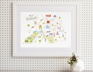 Win a bespoke map of Harrogate, from original hand-drawn illustrations