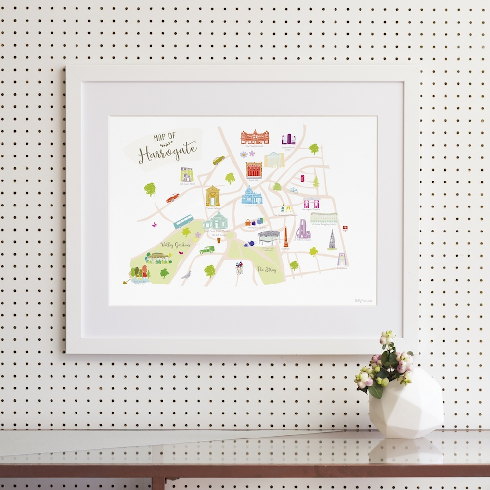 Framed Map of Harrogate