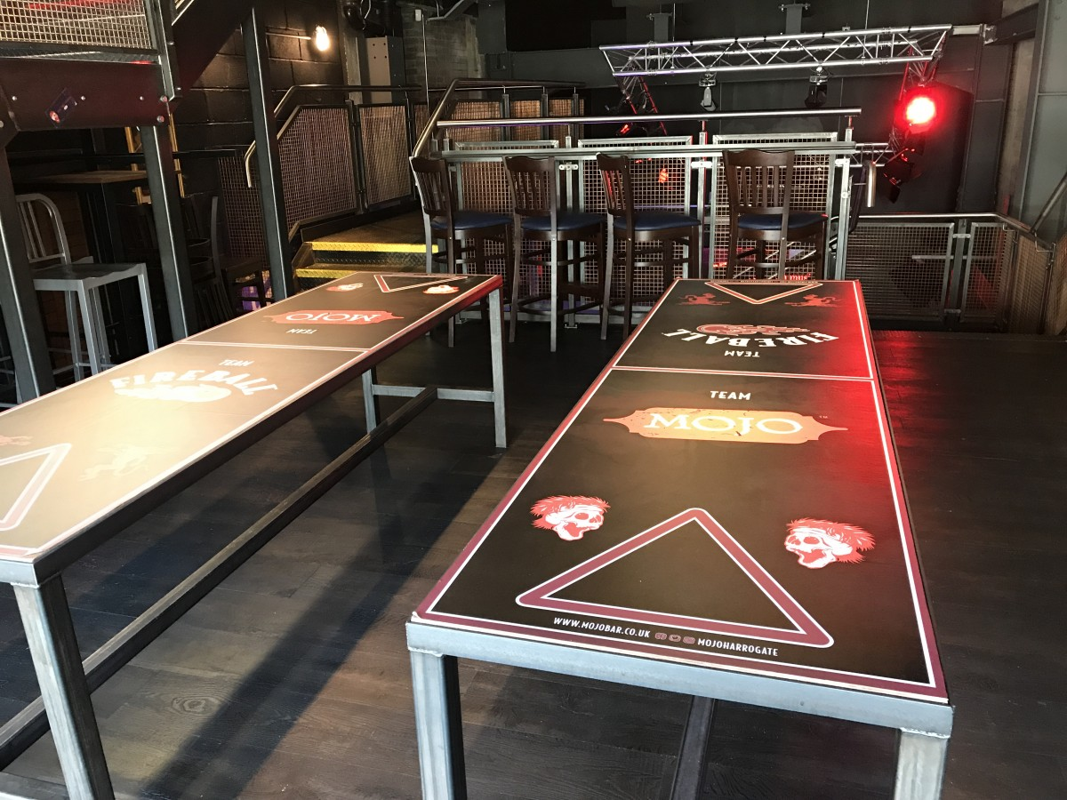 Beer Pong Table at MOJO Harrogate