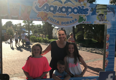Great Water Park rides for Kids at Aquopolis, Spain