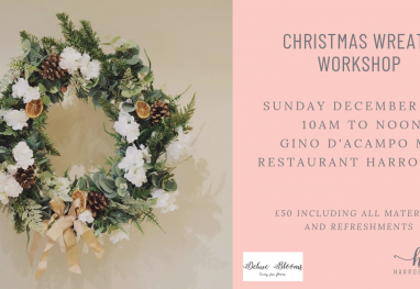 Christmas Wreath Making Workshop – Sunday 2nd December, 10am
